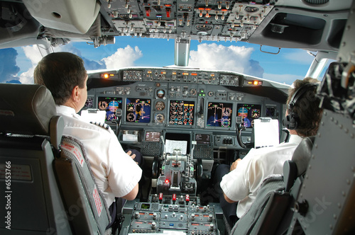 Tablou Canvas Pilots in the cockpit