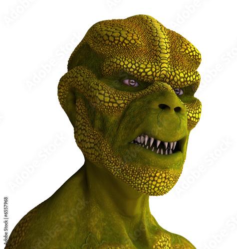 Reptilian Alien Portrait Fototapeta