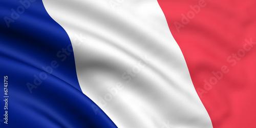 Valokuvatapetti Rendered french flag