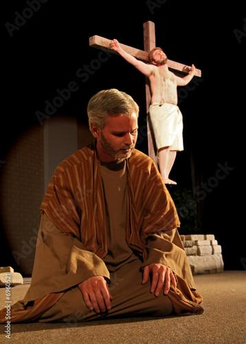 Fotografia, Obraz Peter at Jesus Feet