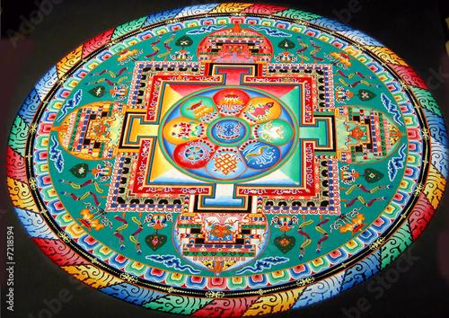 Valokuva tibetan mandala