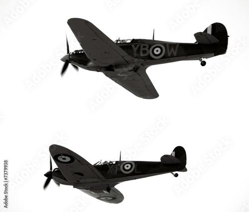 Fotografia Historic ww2 aircraft the spitfire and hurricain