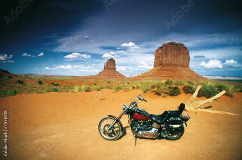 Canvas Print Monument Valley Bike