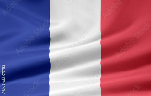 Französische Flagge Fotobehang