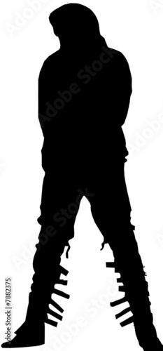 Obraz na płótnie Silhouette Michael Jackson`s Move