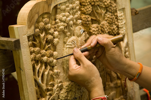 Slika na platnu Carving wood