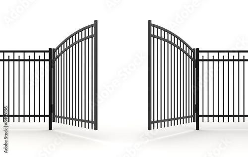 Leinwand Poster 3d metall gate