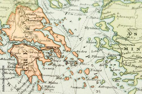 Canvas Print Antique Map (expired copyright)