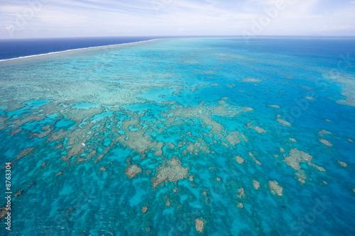 Wielka Rafa Koralowa z góry