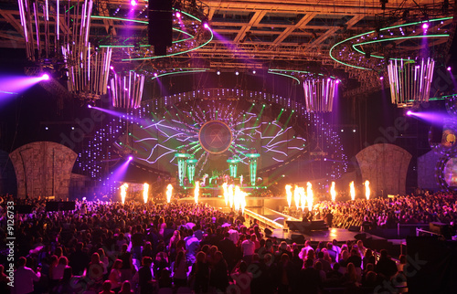 in nightclub. big concert. Fototapeta