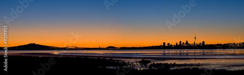 Auckland City Panorama at Sunrise