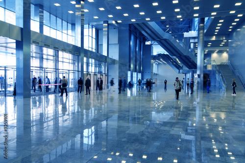 business hall blue Fototapete