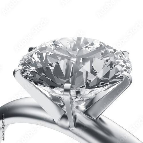 3d rendering of a diamond ring #9735709