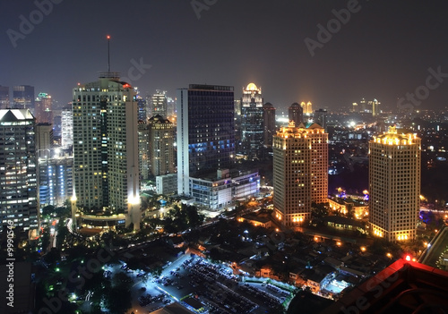 Night view of a capital city