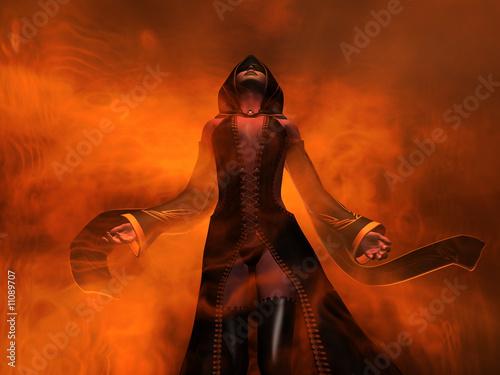 Fotografia żeński czarodziej
