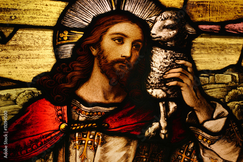 Slika na platnu Jesus with Lamb