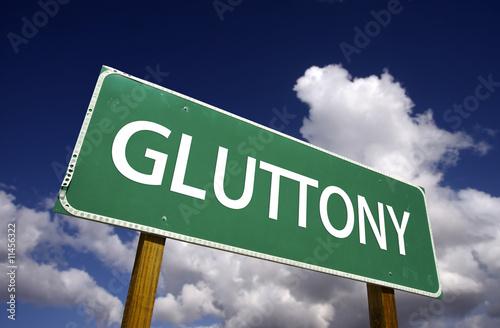 Obraz na plátne Gluttony Road Sign