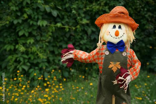 Fotografia Smiling scarecrow, copy space