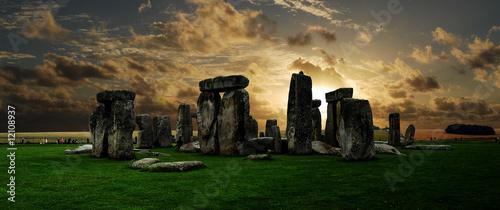 Fotografie, Obraz Stonehenge at sunset