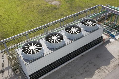 Fényképezés Cooling Tower At Energy Generating Plant