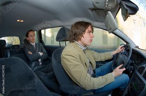 Taxi driver and passenger Tapéta, Fotótapéta
