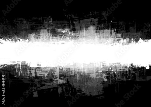 Fotografia An abstract paint splatter frame in black and white