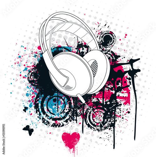 Grunge Headphone #13098915