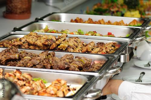 banquet table Fototapet
