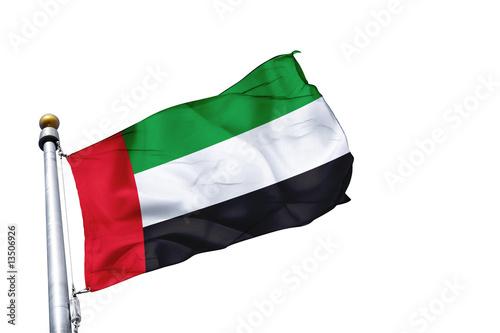 Obraz na płótnie drapeau emirats arabes unis