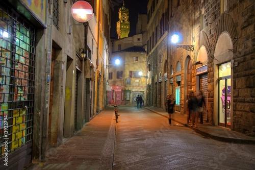 Scorcio vicolo Firenze Fototapet