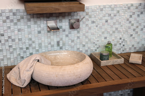 Salle de bain - lavabo Fototapeta
