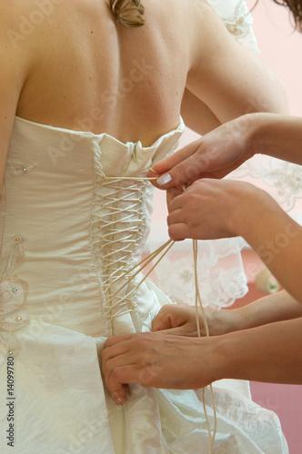 Fotografie, Tablou wedding corset 1