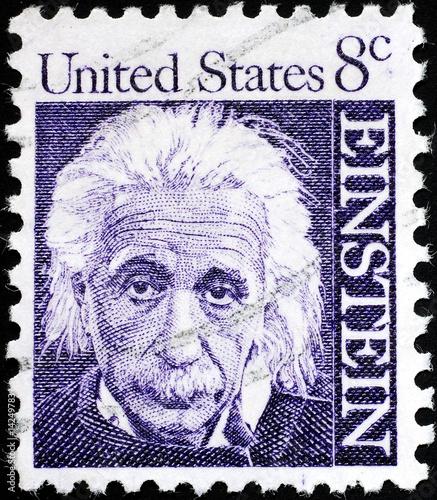 Photo Albert Einstein portrait on US postage stamp