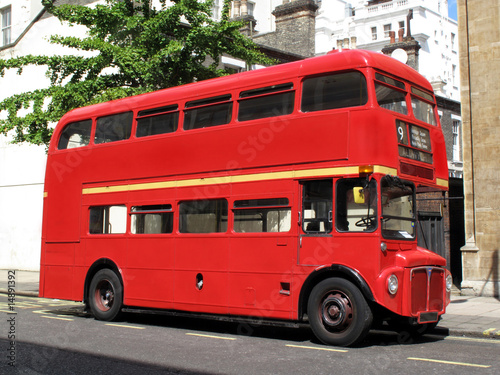 London Routemaster red double decker bus фототапет
