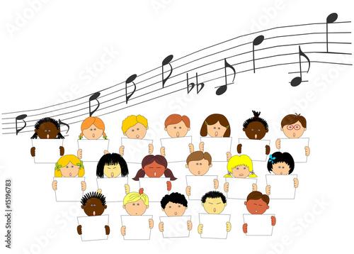 clase de música y canto Fotobehang