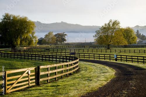 Fényképezés winding fence and road