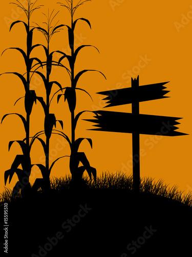 Halloween Illustration silhouette Fototapeta