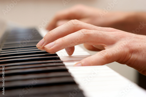 Canvas Print hands pianist and piano player