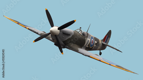 Photo Isolated Spitfire