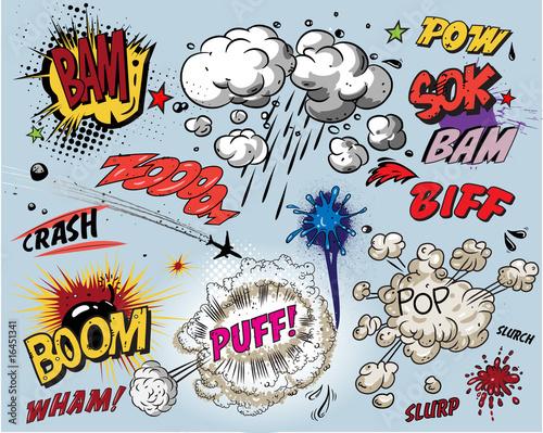 Comic book explosion #16451341