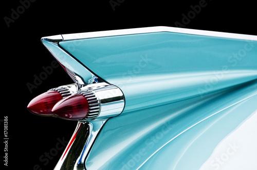 Valokuva blue cadillac tail light