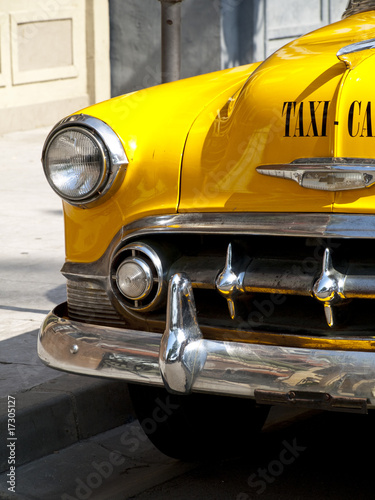 Obraz na płótnie Vintage Yellow Cab