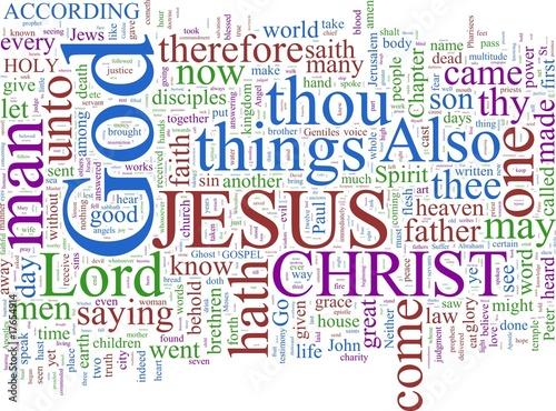 Photo Word cloud - New Testament