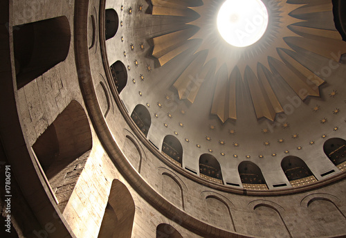 Canvas Print Dome of Holy Sepulchre Church