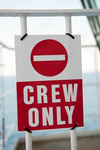 crew only Fototapete