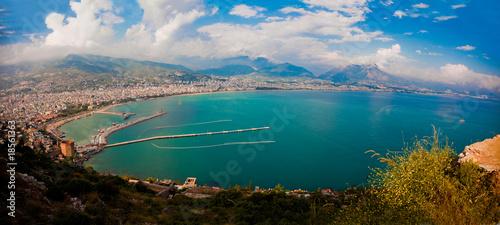 Canvas Print Alanya city harbor, Turkey