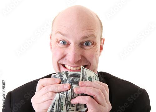 Obraz na plátne greed avarice dollars