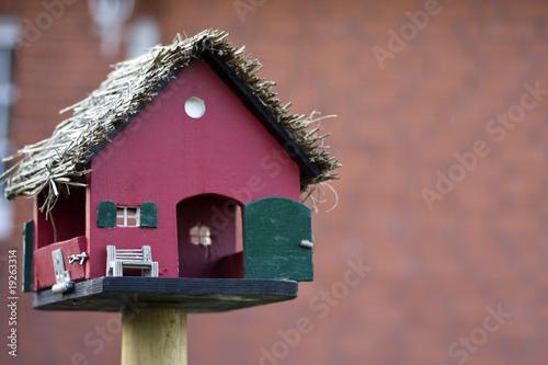 Leinwand Poster vogelhaus