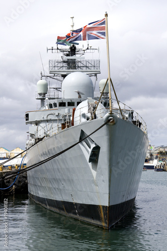 Canvas Print HMS Liverpool Destroyer of the Royal Navy in Cape Town
