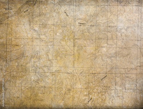 Fotografia, Obraz Expedition background (Topographical Map)